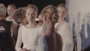 Jesus Peiro 2019 évi eskuvoi ruha kollekciojanak backsage fotoja. Menyasszonyi ruha modellek