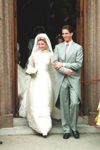 Kiralyi esküvői ruha sorozatunk keretében Marie-Chantal Miller menyasszonyi ruhája