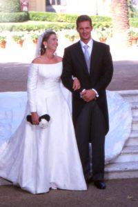 Kiralyi esküvői ruha sorozatunk keretében Infanta Christina menyasszonyi ruhája