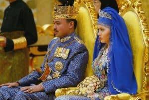 Királyi esküvők sorozat Bolkiah Sarah Salleh a szertartáson
