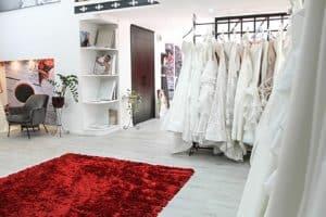 Eklektika esküvői ruhaszalon Budapest belső enteriőr