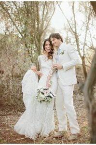 Nikki Reed esküvői ruhája
